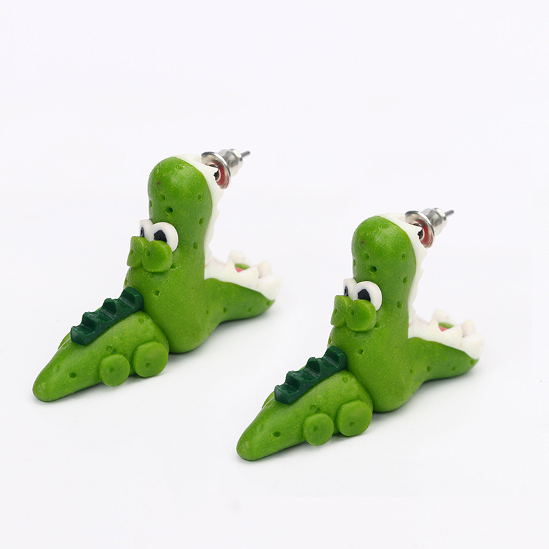 Wholesale Split Stud Earrings Fimo Polymer Clay Crocodile Earrings
