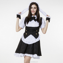 Black And White Fancy Cosplay Anime Maid Costumes Clothing Wholesale Stock