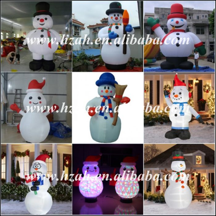 Frosty lowes outdoor christmas inflatable snowman for Abominable snowman outdoor decoration