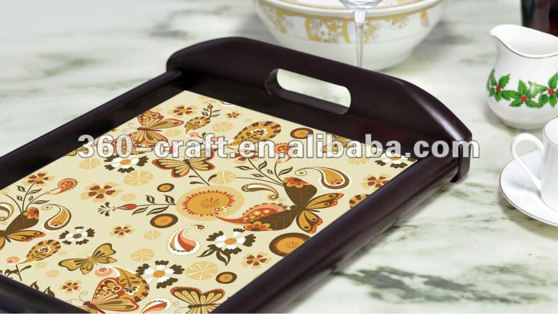 Customized Printing Wooden Tray
