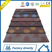 Nuoran interlocking stone metal roof sheet,architectural roof shingles better than pvc roof