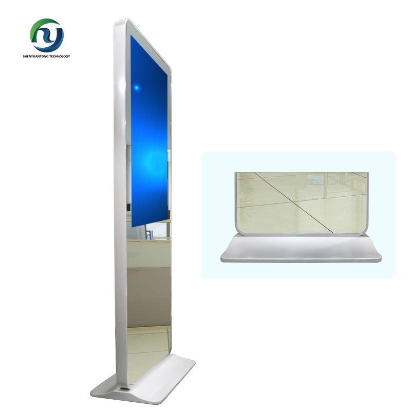 42 Inch LCD Video Monitor Advertising Floor Stand Selfie Mirror HD Digital Signage