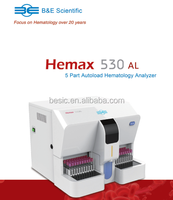 High quality 5 Part Blood cell counter; 5 part Diff Hematology analyzer
