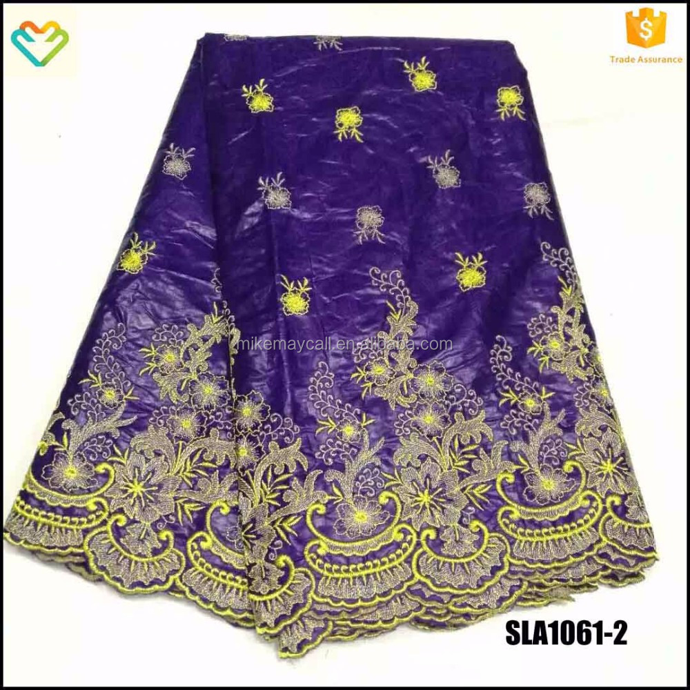 SLA1061-2 purple perfect bazin riche lace latest design for elegant ladies