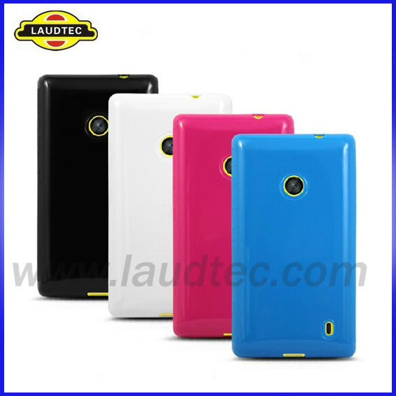 For Nokia 520 Silicon Gel Cover Case,Many Colors Luadtec