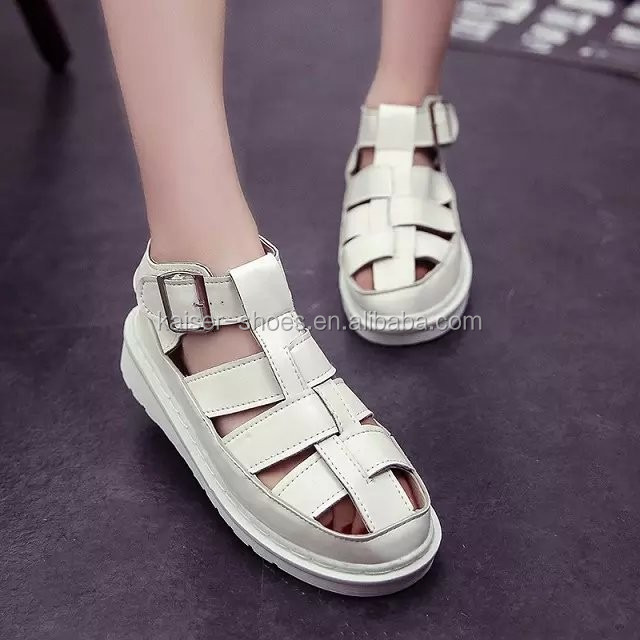 MN16112409 lady shoe new summer fashion shoe punk restoring ancient style shoe flat sandals