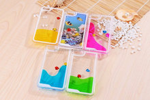 Clear Plastice phone case cover with fish design for iphone 5s case