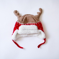 Christmas Snowman autumn winter knitting beanie hat cotton earflap