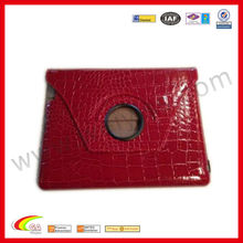 For ipad air cover,stand leather smart case for iPad air,red luxury crocodile pattern for ipad 5