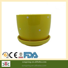 light yellow colorful new design wholesale ceramic pots for plants