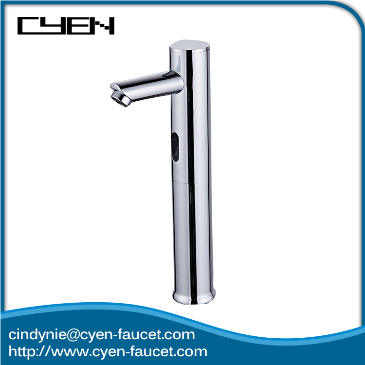 Electric Chrome Polished Hand Free Wash Basin Sensor Water Tap