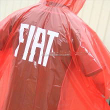 Promotional design printing LOGO disposable adult LDPE rain cape poncho
