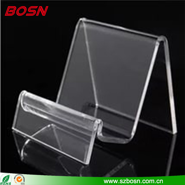 Wholesale custom clear acrylic wallet display rack Perspex jewelry stand