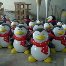 Fiberglass animal sculpture penguin statue for theme park decoration
