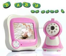 Li-ion battery operated video baby camera night vision digitai wireless baby monitor with 3.5''tft led screen