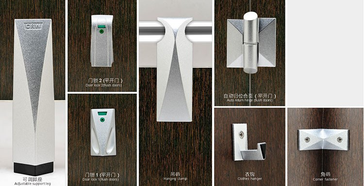 stainless steel toilet cubicle hardware and partition hardware