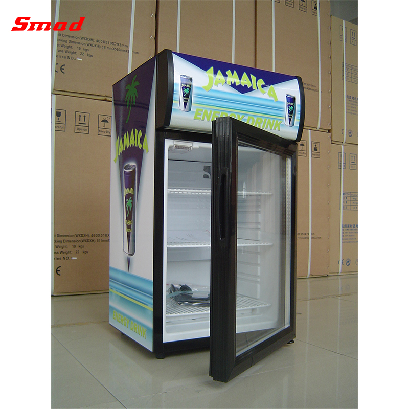Hot Sale Mini Countertop Glass Door Display Cooler Refrigerator Showcase