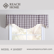 Luxury blackout curtain fabric with new design valance curtain with Pattern