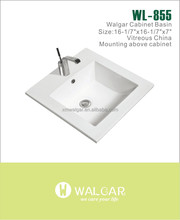 Special design ceramic top mounted sanitary ware bathroom wash sink art basin