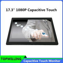 1080P High Resolution 17 inch IPS Capacitive Multi-touch Screen Open Frame Monitor
