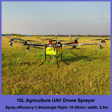 10 kg payload dust sprayer drone for farming , autonomous flying agricultural spraying drone