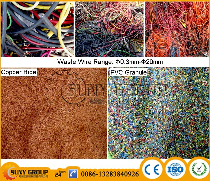 machine for copper cable recycling wire copper extraction, View ...
