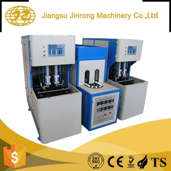 Semi automatic twin station mini pet water plastic bottle blowing moulding machine price