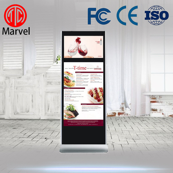 55 inch lcd advertising screen player/indoor digital signage/floor standing indoor advertising lcd display