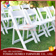 High quality wholesale white padded resin folding chair
