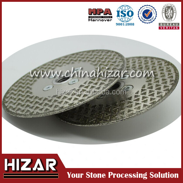 "4"" 2-sided Electroplated Diamond circle saw blade"