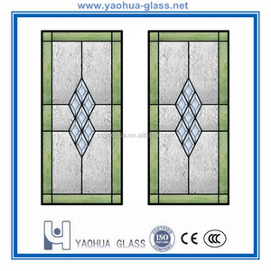 OEM factory decorative glass inserts for kitchen cabinets
