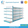 Metal retail display shelf for supermarket