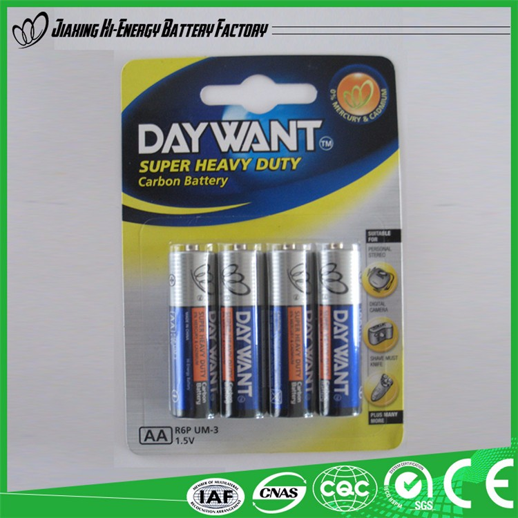 Top Quality Wholesale all kinds of Dry Battery aa 1.5V Battery