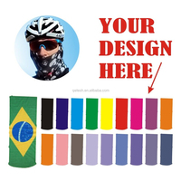 Create Your Own Brand Different Colors Polyester Wholesale Custom Neck Gaiter