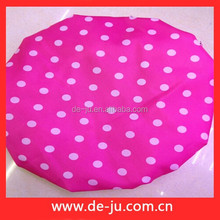 Dark Red With White Dots Thick Shower Cap For Women