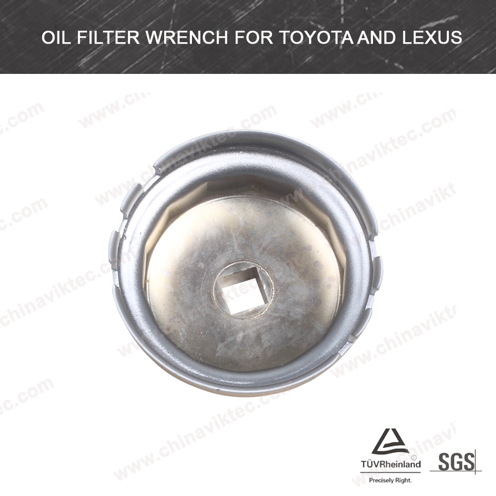 China Gold Supplier Viktec Most Hot Sale GoodQualitySteel Material Stamping Oil Filter Cap Wrench For Toyota and Lexus(VT01495)