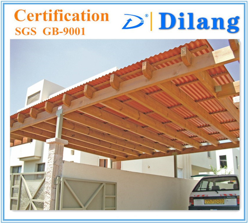 Carports garages with polycarbonate corrugated sheet roof price