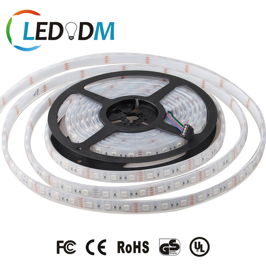 High Quality Led Christmas Strip Light 5050 Flexible Led Strip IP66-Waterproof RGB RGBWW 5M 300LEDs With All Certificate