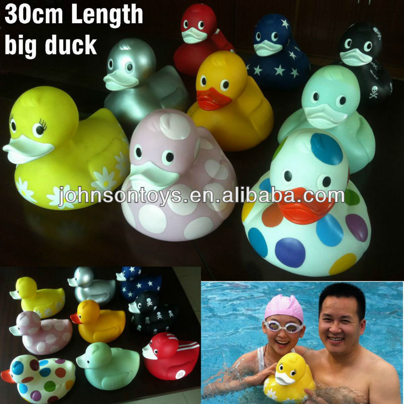 30cm big floating colorful rubber bath duck