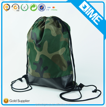 China Manufacturer Customized 210D Polyester Drawstring Backpack For Sport
