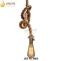 brass lamp holder vintage style single double hemp rope pendant light lamp