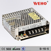 Manufacturer 15w 5v ac dc power supply 110v input 5v output power supply