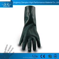 QL long sleeve waterproof pvc rubber protection gloves