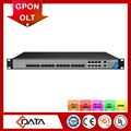 high bandwidth internet access FTTH 1U rack 10 gb olt 8 port GPON OLT