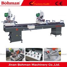 Aluminum upvc plastic window door double head mitre saw machine