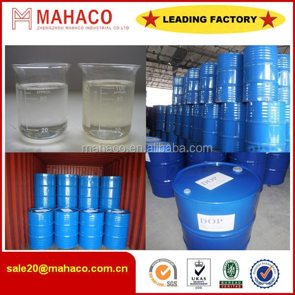 2015 Hot Sale Plasticizer DOP/Dioctyl Phthalate 99.5%/DOP 99.5%/DOP OIL FOR PVC PIPE