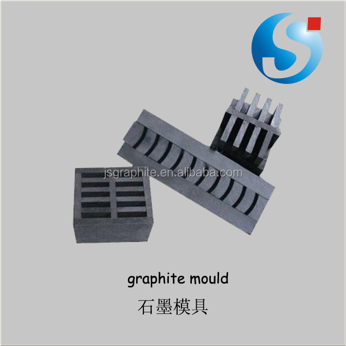 Graphite mould for glass bead making