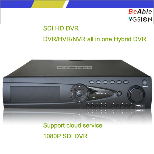 16CH 720P Realtime Full SDI Input HD NVR DVR All In One Hybird Security