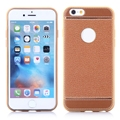 Electroplated PU Leather Coated TPU Back Cover Case for iPhone 6/ 6S