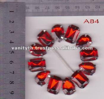 Thailand Red Crystal Fashion Buckles
